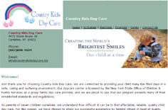 Country Kids Daycare in Canisteo, New York - Creating the World's Brightest Smiles - One Child at a Time